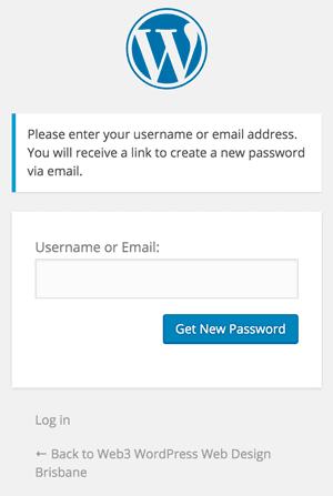 Forgotten WordPress password