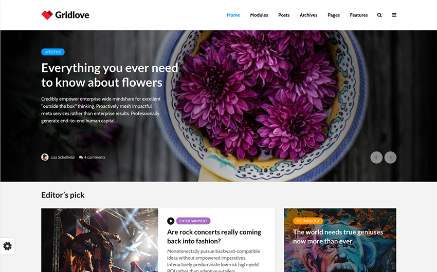 Content First Design Website Example