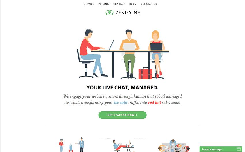 Zenify Me top web design trend example
