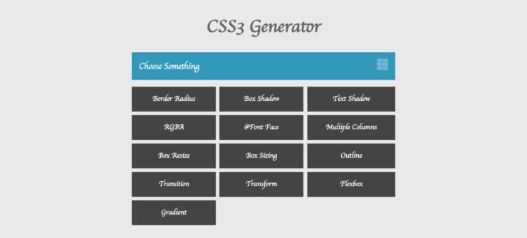 CSS3 Generator homepage