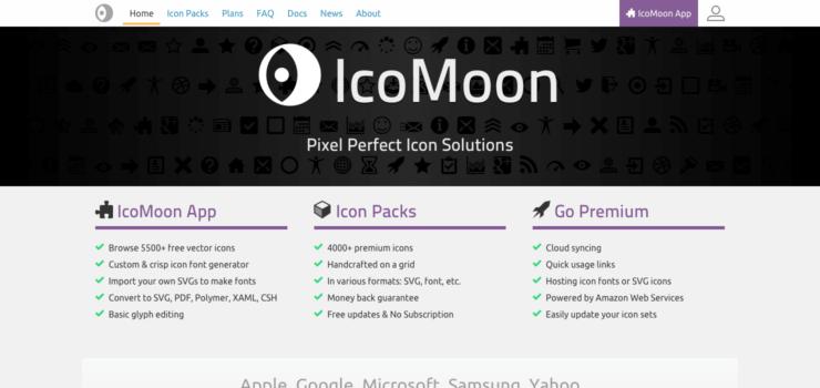 IcoMoon homepage