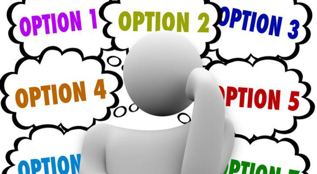 choosing what option to use