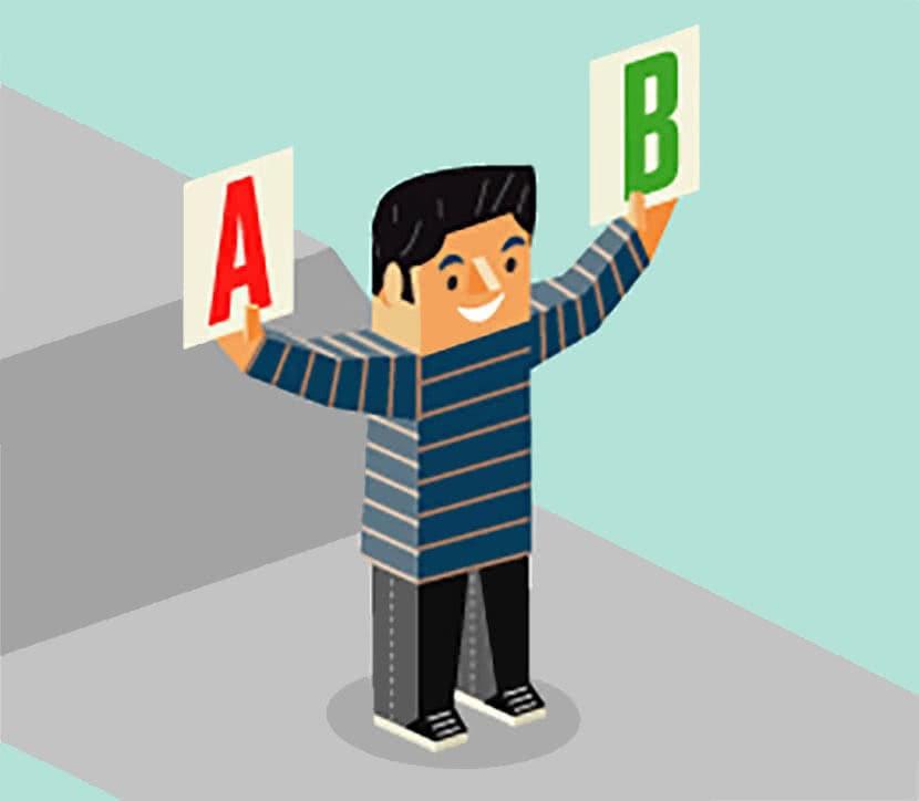 AB Split testing