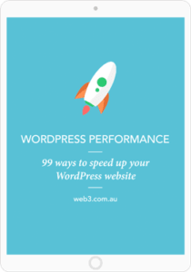 Web3 speed up WordPress ebook