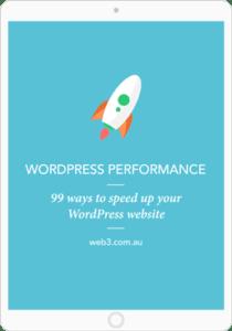 Web3 speed up WordPress ebook